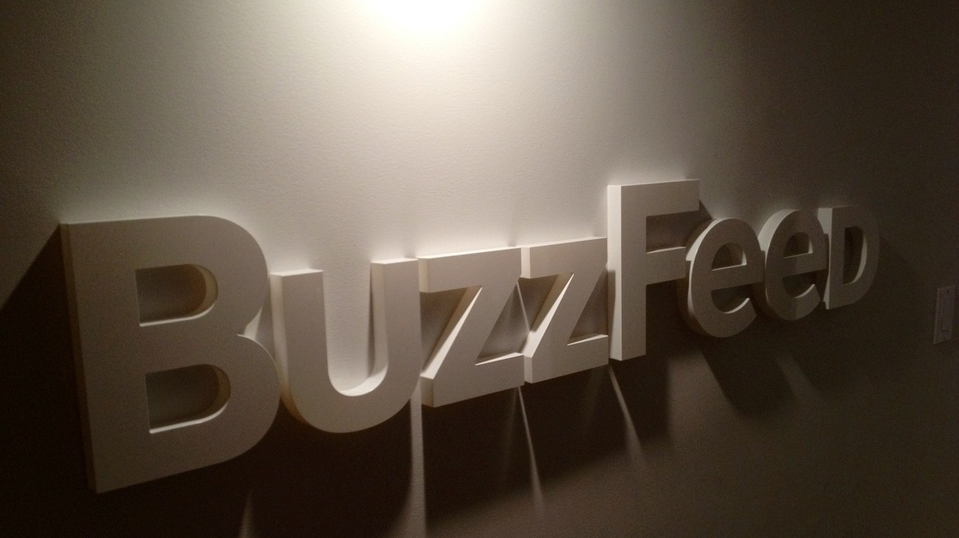 BuzzFeed's content is created by both paid staff members and users of the site.